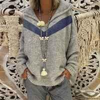 Pull en tricot surdimensionné pull femmes 2019 grande taille à manches longues automne gris rouge chandails à capuche Femme vêtements d'hiver femmes