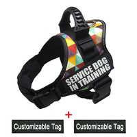 K9 Harnesses For Dogs Customizable Dog Name label Reflective Adjustable Dog Harness Vest Collar For Medium Large Dog Supplies