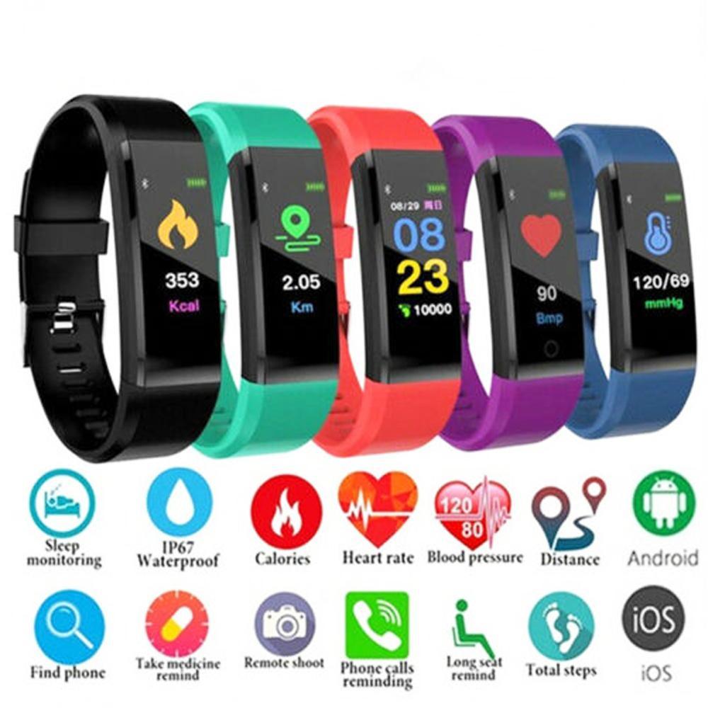 ID115 Plus Pro Colour Activity Fitness Tracker Smart Watch Pedometer Wristband Walking Heart Rate Pedometer SmartBand