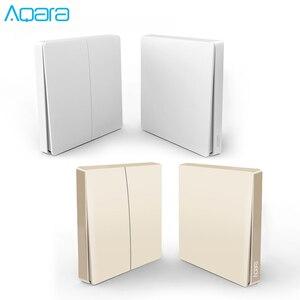 Image 1 - הכי חדש מקורי זהב גרסה Aqara מתג חכם אור שלט רחוק ZigBee אלחוטי קיר מתג עבור Mijia Mi בית APP