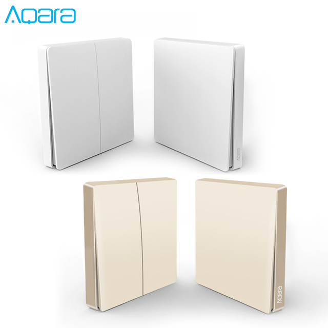 הכי חדש מקורי זהב גרסה Aqara מתג חכם אור שלט רחוק ZigBee אלחוטי קיר מתג עבור Mijia Mi בית APP
