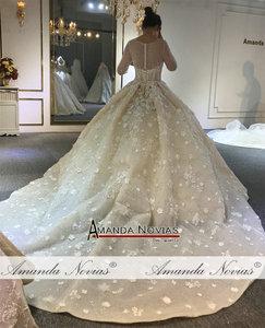 Image 4 - Свадебное платье 2020, новый дизайн, Настоящее рабочее свадебное платье 100%, Настоящее рабочее свадебное платье высокого качества