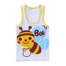 T-Shirts Boys Children Clothing Girls Sleeveless Baby Summer Kids Cartoon 2-7-Years CN
