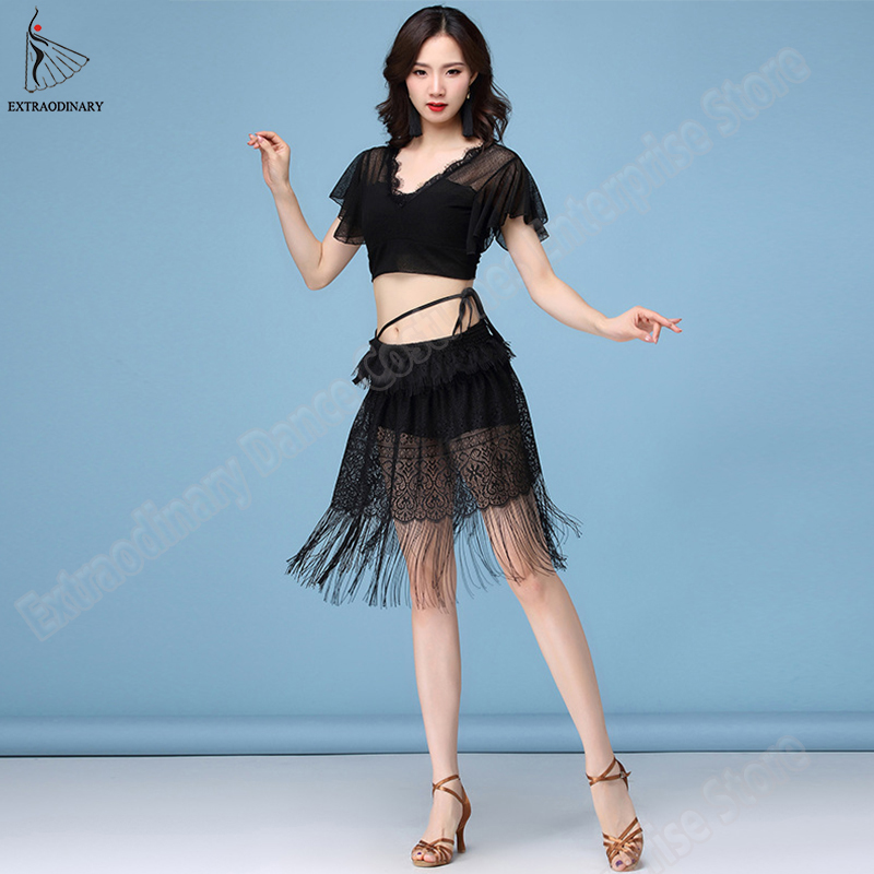 New Fashion Belly Dance Top Skirt Set Costumes Women Practice Clothes Dress Top Skirt Tassel Performance Clothes Sexy