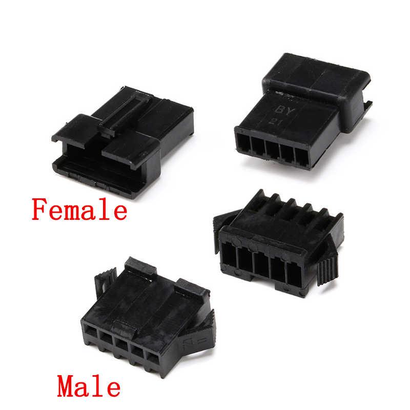 120 ชิ้น/เซ็ต JST SM ปลั๊ก 2.54 มม.หญิงและชาย + ขั้วต่อ SM-2P SM-2R JST SM2.54 2/3/4/5/6/7/8 P PIN