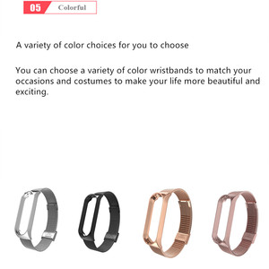 Image 4 - For Mi Band 4 3 5 Wrist Strap Metal Screwless Stainless Steel For Xiaomi Mi Band 5 4 3 Strap Bracelet Miband Wristbands Pulseira