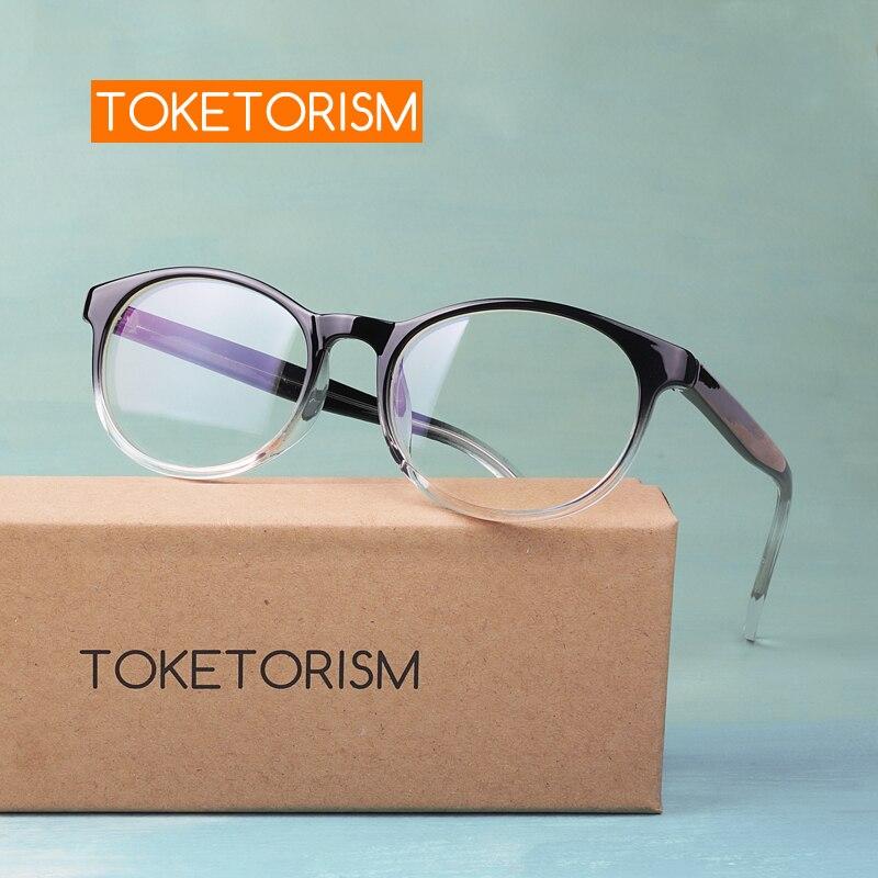 Toketorism Trendy Round Woman's Eyeglasses Spectacle Frames Female Plain Glasses 7119