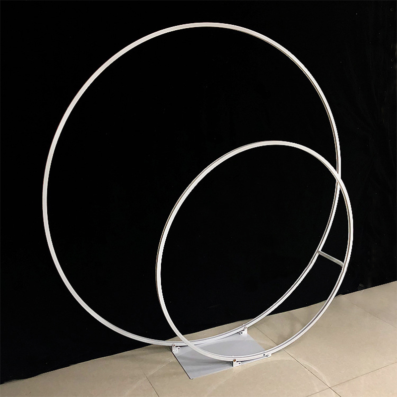 wedding : Double circle wedding arch metal round Outdoor wedding backdrop arch stand double ring Christmas decorations for home