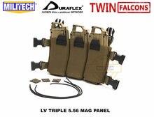 MILITECH TWINFALCONS LV 5.56MM podkładka elastyczna elastyczna potrójna 556x45 Mag etui stojak na czasopisma do klatki piersiowej JPC FCSK 2