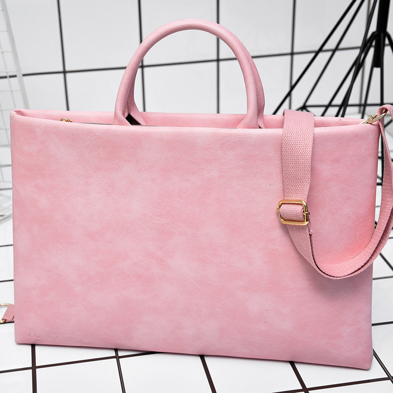 Fashion Computer Laptop Tote Waterproof Shock-resistant Lightweight Women Handbag Office Briefcase Shoulder Bag