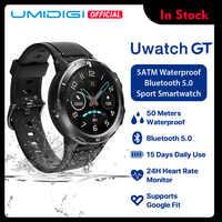 UMIDIGI Uwatch GT Smart Uhr 5ATM Wasserdichte Alle-Tag Herz Rate Aktivität Tracking Schlaf Monitor Ultra-Lange Battrey android iOS