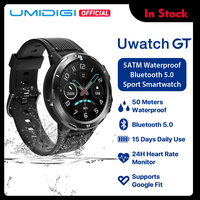 UMIDIGI Uwatch GT Smart Watch 5ATM Waterproof All Day Heart Rate Activity Tracking Sleep Monitor Ultra Long Battrey Android iOS
