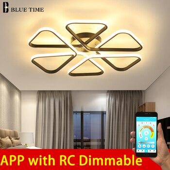 Modern LED Ceiling Lights Remote control for Living room Bedroom Aluminum body indoor balcony Lamp flush mount ceiling light