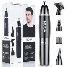 4 em 1 nariz e orelha trimmer para homens remoção do cabelo nariz clipper corte de corte máquina barbear depilador clipper nariz tondeuse