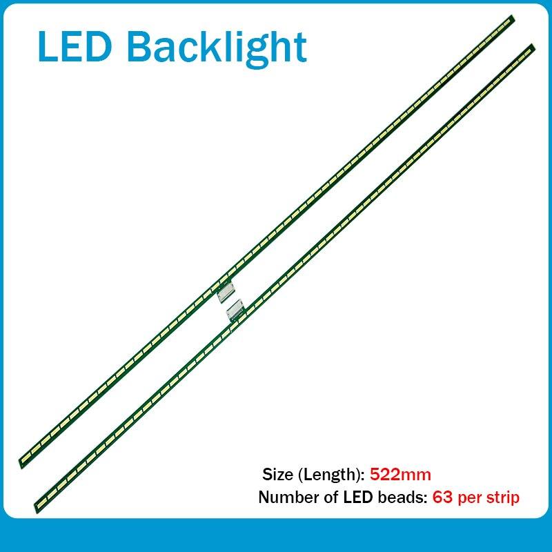 LED Backlight Strip 63 Lamp For LG 47LM6600 LED47X8100PDE 47E800A 47'' TV 6920L-0001C 6922L-0021A LC470EUG PE F1 LC470EUH