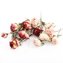 5 sztuk worek Mini róże małe róże DIY ręcznie suszone kwiaty świece zapachowe kwiaty materiały tanie tanio LISM MY001 Kwiat Głowy Walentynki