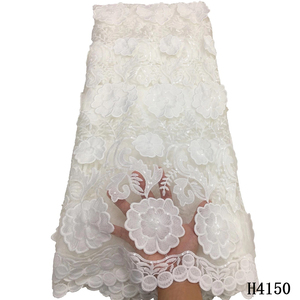 Image 2 - アフリカレース生地2020高品質のレース刺繍グリーンフレンチレースの生地ナイジェリア水溶性コード結婚式のための