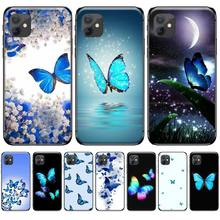 цена на Cute butterfly blue Newly Arrived Black Cell Phone Case For iphone 4 4s 5 5s 5c se 6 6s 7 8 plus x xs xr 11 pro max