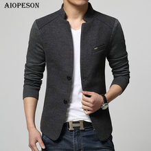 AIOPESON New Mens Blazer Patchwork Suits For Men Top Quality Red Blazer