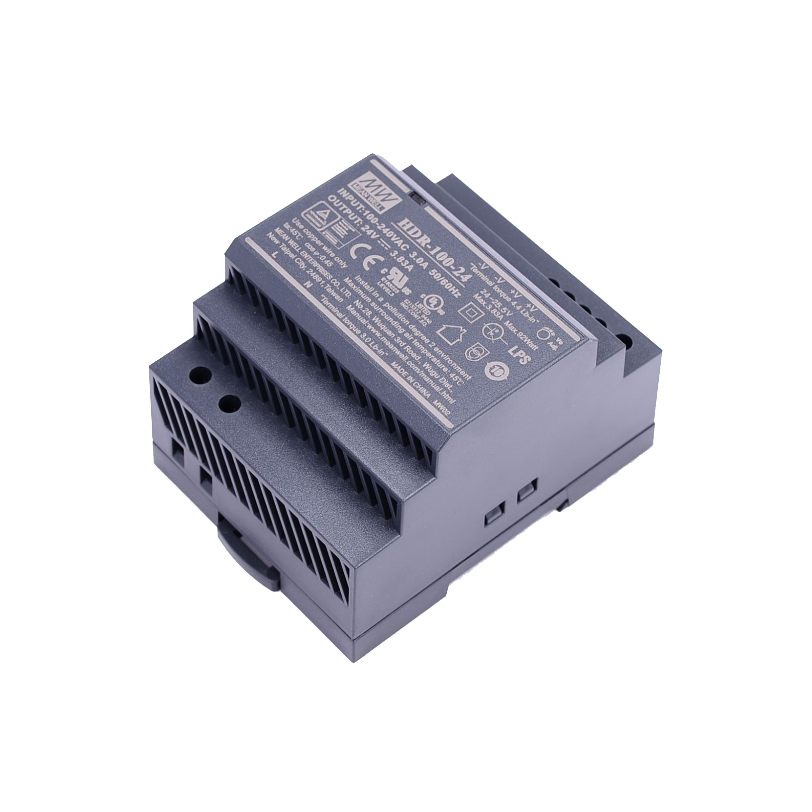 Original Mean Well HDR-15 30 60 100 150 series DC 5V 12V 15V 24V 48V meanwell Ultra Slim Step Shape DIN Rail Power Supply-4