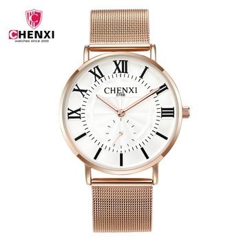 CHENXI Luxury Women Watches Casual Ultra-Thin Fashion Couple Watch Men s Business Waterproof Luminous Lovers Clock