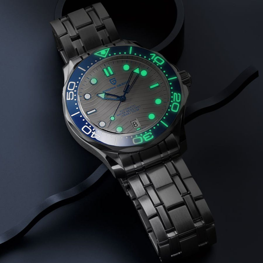 2021 New PAGANI DESIGN Wave Men Mechanical watch Luxury Automatic Watch for men NH35 Sapphire crystal Dive wristwatch clock man 3