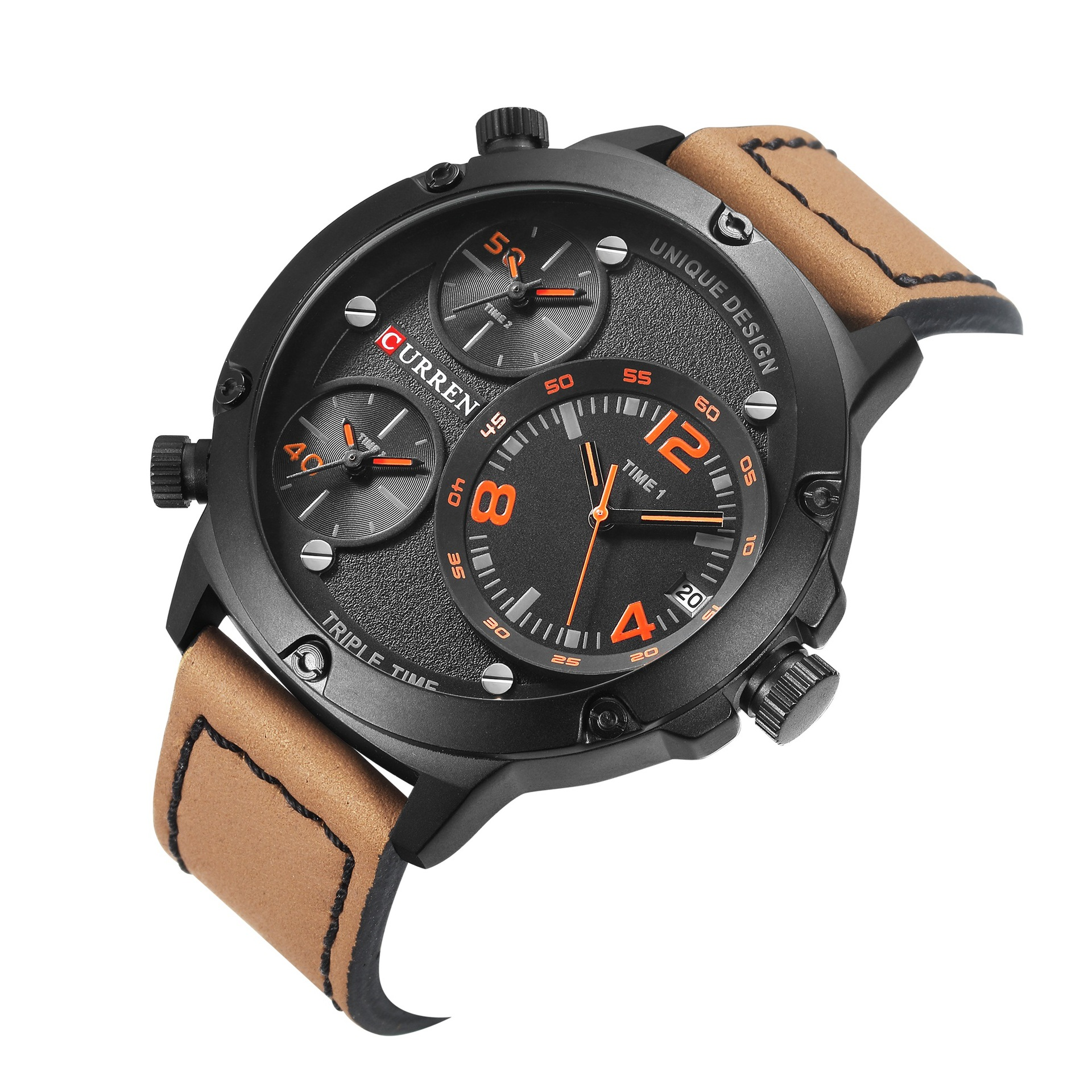 Luxury CURREN 8262 Brand Military Watches Men Quartz Analog Leather Clock Man Sports Watches Army Time Watch Relogios