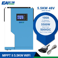 Power-Soalr-Inverter Sine-Wave EASUN 48VDC MPPT 5500W 500VDC 220VAC Pure 100A with Wifi