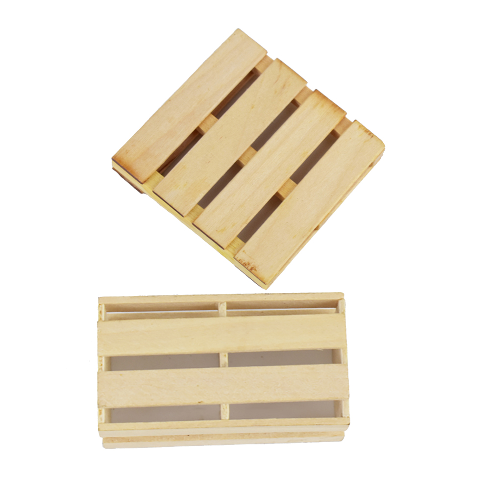 Wooden Forklift Pallet Box Case Box Case RC Car Roof Decorartion For 1/10 RC Crawler Car Axial SCX10 D90 CC01 Traxxas TRX4 TRX-4