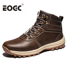 High quality Men Boots Winter Warm Snow boots Plush ankle work safety men winter shoes