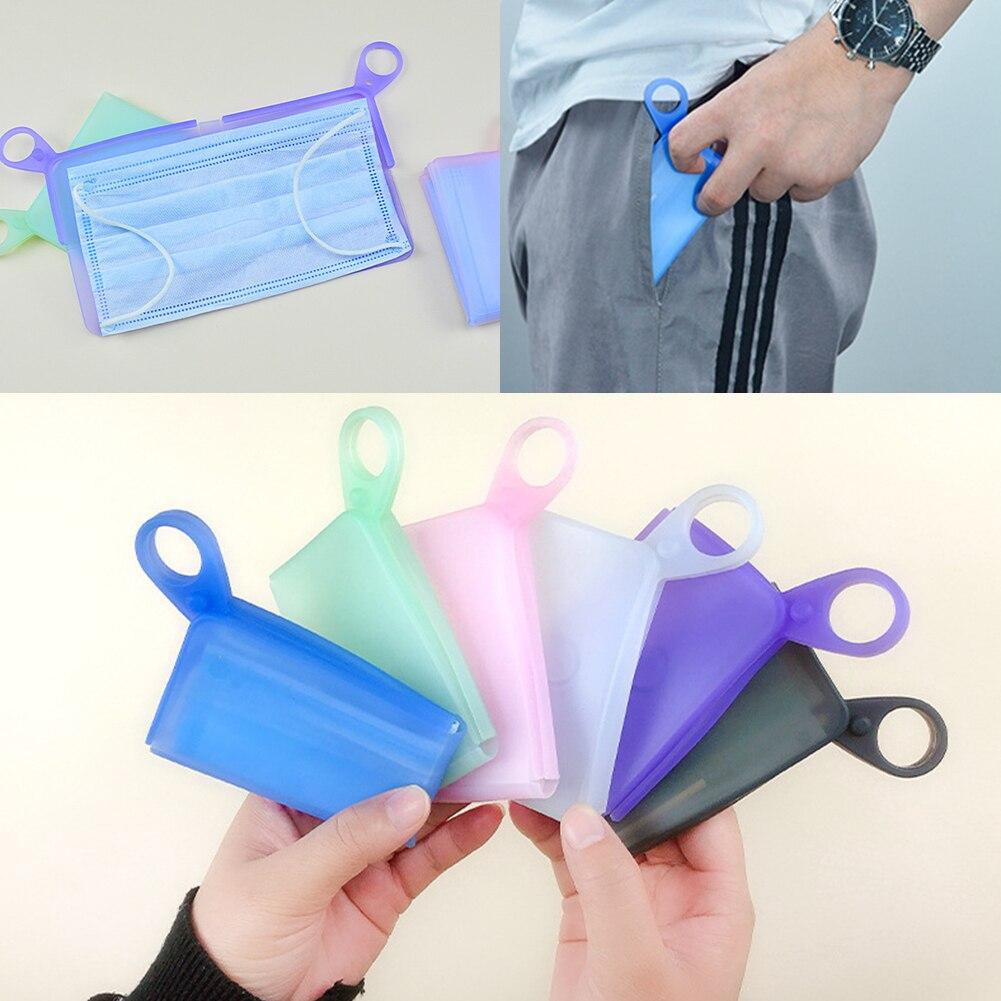 المحمولة قناع الوجه تخزين مجلد قابلة لإعادة الاستخدام سيليكون المنظم حقيبة التخزين ل قناع غير قابل لإعادة الاستخدام الحقيبة