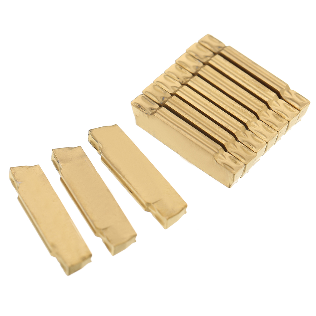 10pcs MGMN600-M LDA Carbide Inserts For MGEHR//MGIVR Grooving Cut-Off Holder