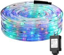 Luzes de corda led 8 modos led à prova dwaterproof água arco-íris tubo corda led strip luz natal ao ar livre luzes decoração do feriado ip65
