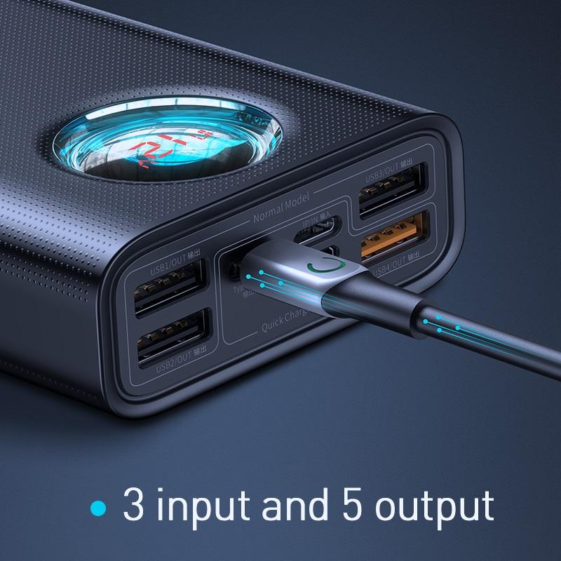 Baseus 30000mAh banco de alimentación USB C PD 3,0 carga rápida + carga rápida 3,0 batería externa portátil para Samsung portátil banco de energía - 3
