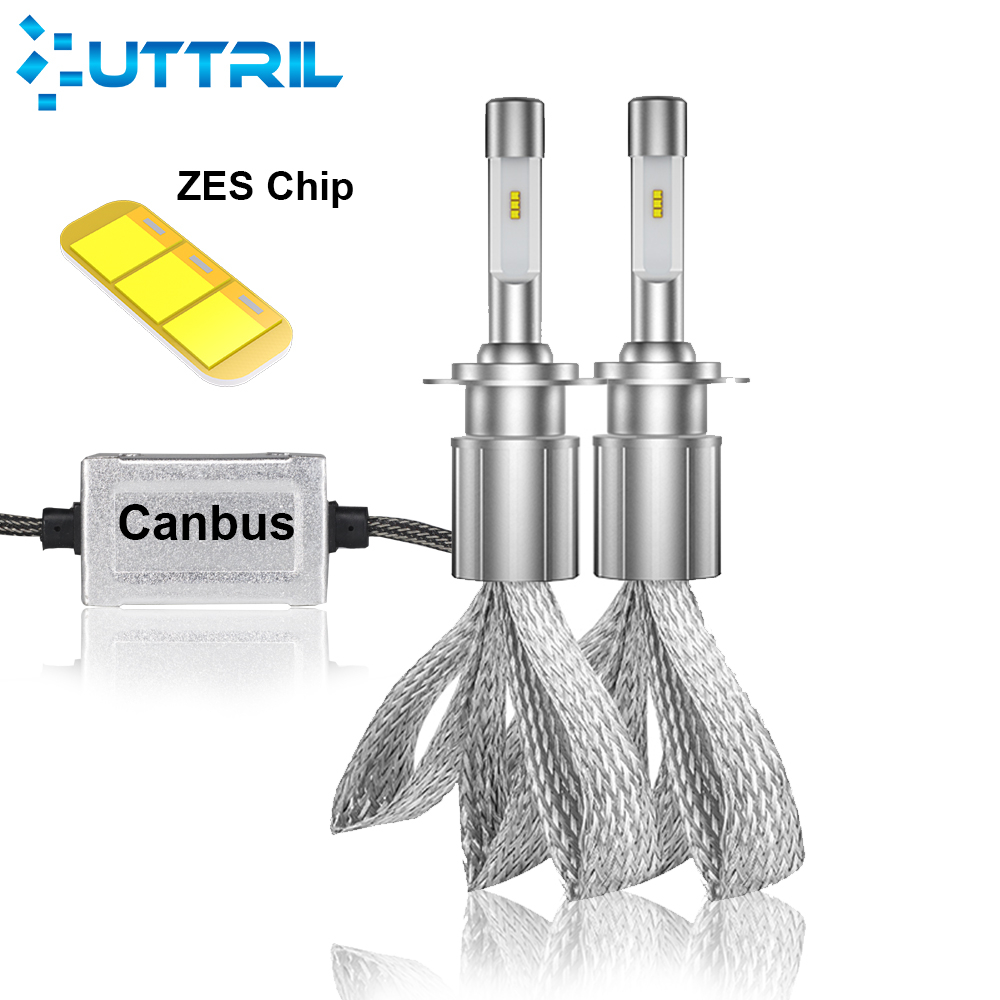 Uttril H4 H7 светодиодный Canbus фар H1 H3 H8 H9 H11 9005 9006 9012 880 881 D2 D4 Автомобильный светодиодный лампы 80 Вт 16000LM Автомобильная противотуманная фара 6000K 12V
