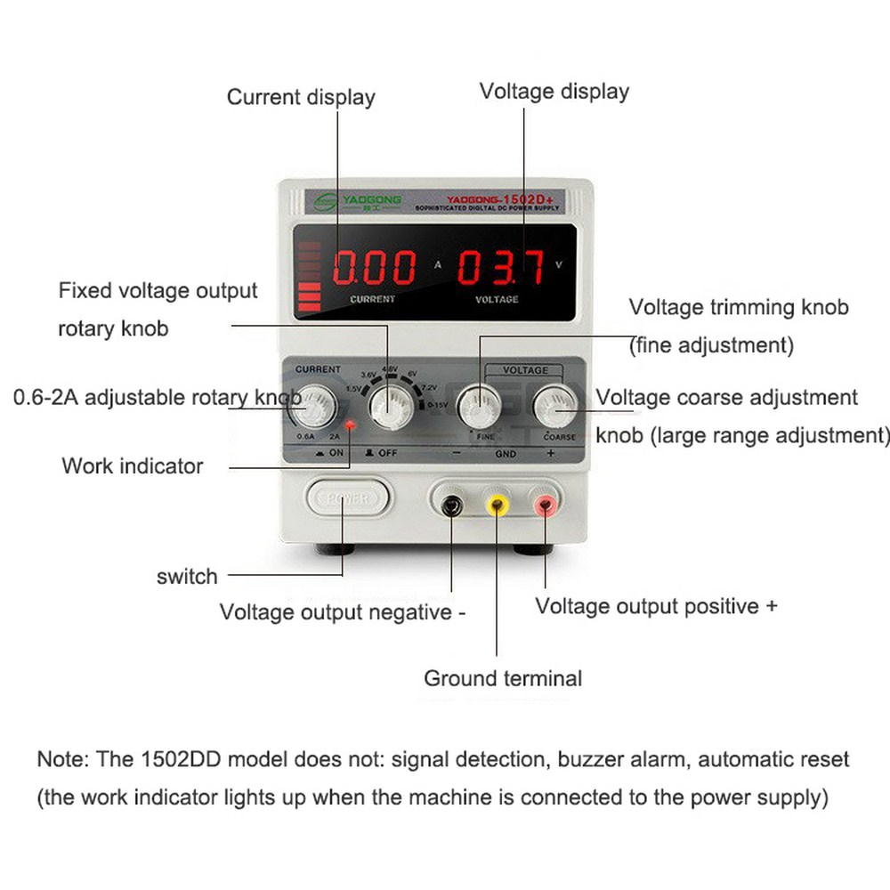 15V2A Gigital Display Adjustable DC Regulated Power Supply <font><b>1502D</b></font> Two Specifications Adjustable DC Power Supply LED Display image