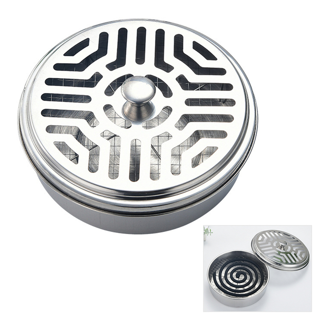 1//Insect Repellent Spiral Mosquito Coil Holder w//Cover Round Rack