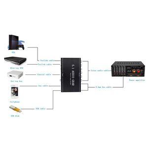 Image 5 - 5.1 معدات الصوت 2 في 1 5.1 قناة AC3/DTS 3.5 مللي متر معدات الصوت الرقمية فك ترميز الصوت المحيطي ستيريو (L/R) إشارات فك HD لاعب