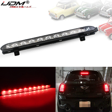 IJDM siyah krom Lens kırmızı LED 3rd fren lambası 2007 2014 MINI Cooper R56 R57 R58 R60, OEM Fit yüksek dağı fren lambası 12V
