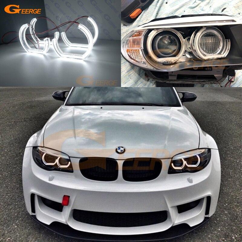 For BMW 1 Series E82 E88 E87 E81 2006-2013 Xenon Headlight Excellent Ultra Bright DTM M4 Style Led Angel Eyes Kit