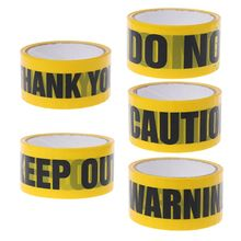 1 Roll 25m Yellow Opp Warning Tapes Caution Mark Work Safety Adhesive DIY Sticker For Mall School Factory