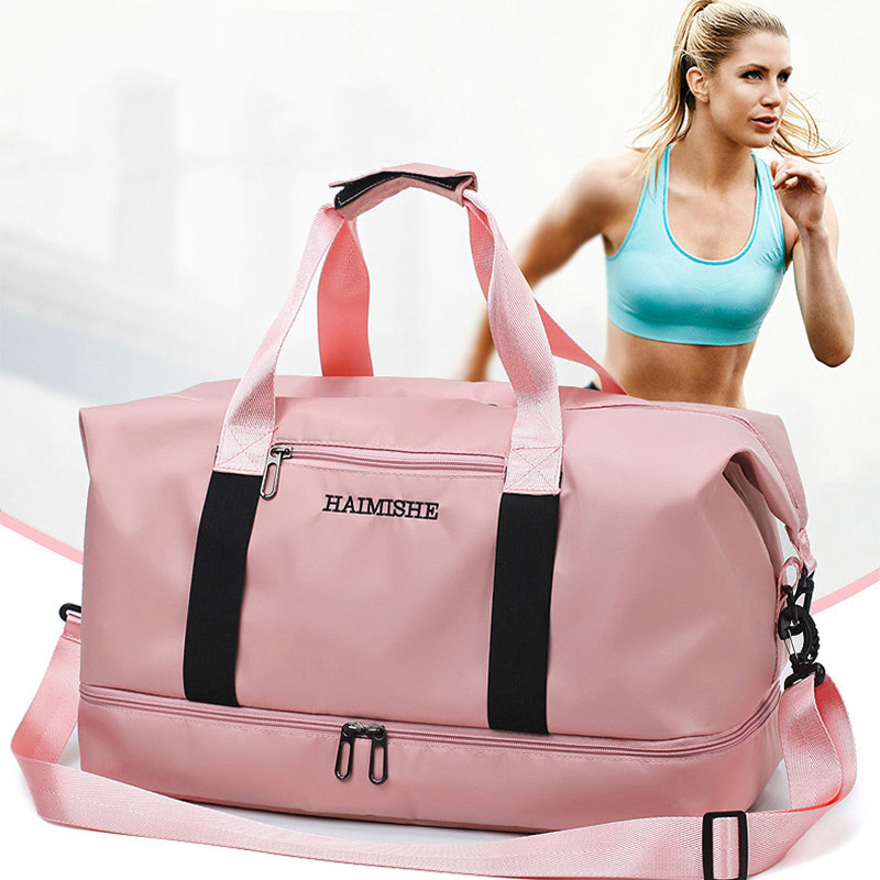 2020 Training Handbag For Men Women Portable Large Capacity Waterproof Pink Women Handbag Duffel Bags Yoga Fitness Bags