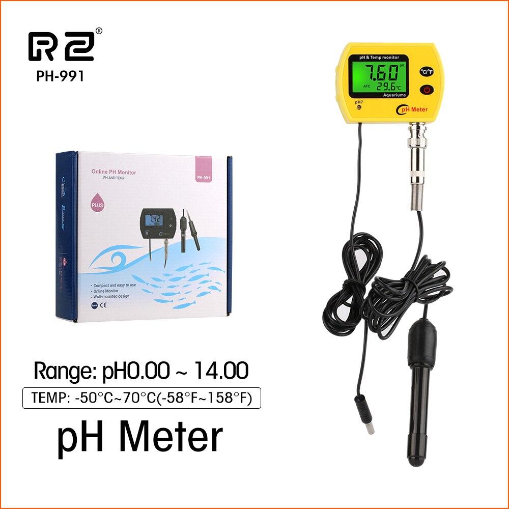 Medidor de temperatura de PH en línea, medidor de agua Digital LCD portátil 0,01ph, medidor de acidimetro, Monitor de calidad de acuario con retroiluminación Medidor de potencia de fibra óptica 2 en 1, con fuente láser de 10km, localizador Visual de fallos VD708-10mw