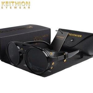 Image 1 - KEITHION di Modo Steampunk Occhiali Da Sole Rotondi Occhiali Da Sole Del Progettista di Marca Degli Uomini Delle Donne Dellannata Occhiali Da Sole UV400 Shades Occhiali