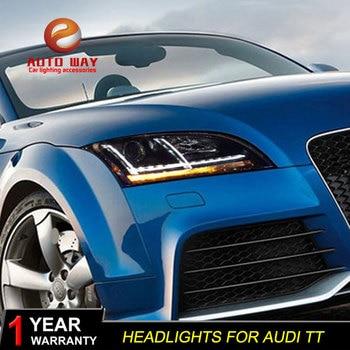 Car Styling Head Lamp case for Audi TT Headlights Audi TT 2006-2014 LED Headlight DRL Lens Double Beam Bi-Xenon HID