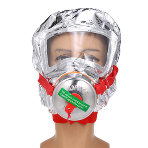 Image 2 - Fire Eacape Face Mask Self rescue Respirator Gas Mask Smoke Protective Face Cover Personal Emergency Escape Hood