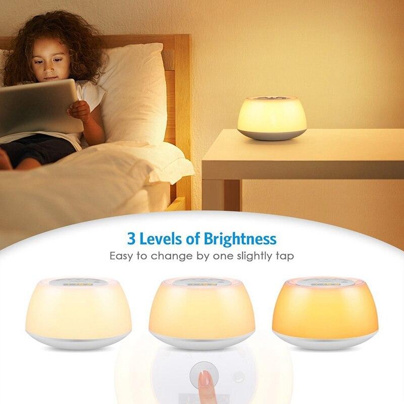 Acorde luz despertador, função de relógio sono