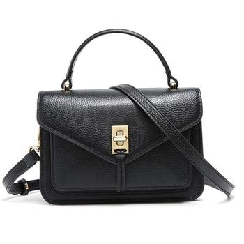 Leather shoulder bag ladies briefcase small flip bag Messenger bag multi-function bag new designer natural cowhide