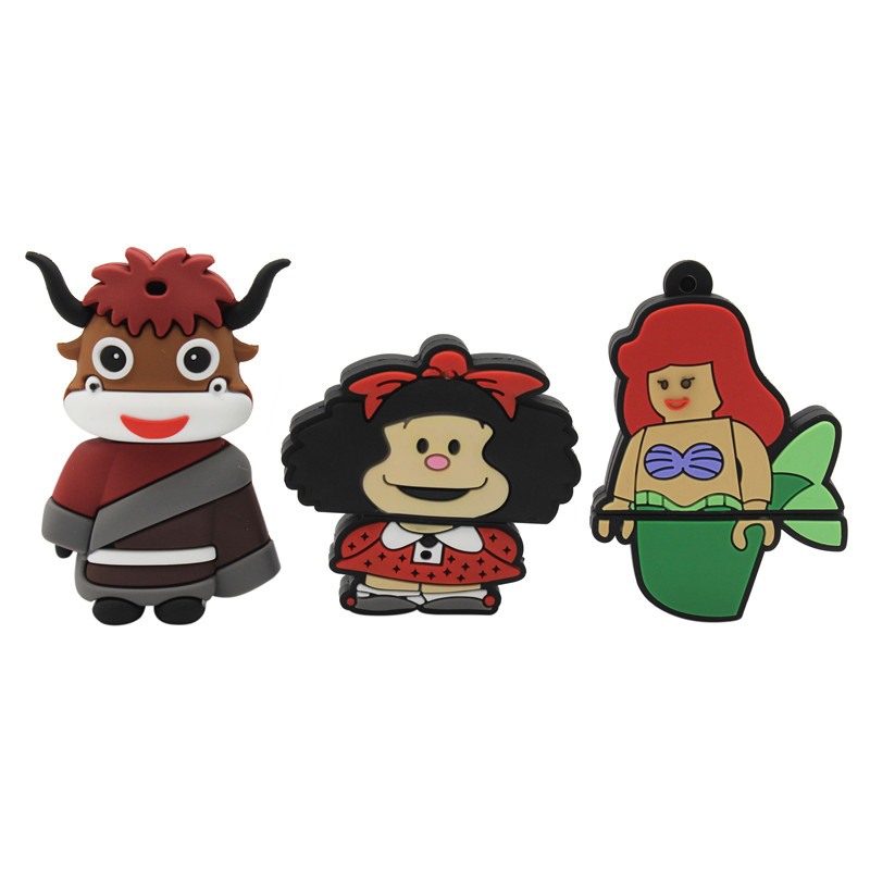 BiNFUL New Nodel  Cartoon Head Devil Mermaid Baby Pendrive 4GB 8GB 16GB 32GB 64GB Bride Groom Pen Drive Usb Flash Drive