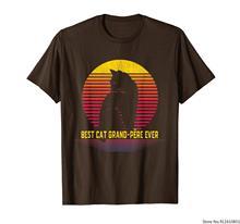 Melhor gato grand-pere nunca engraçado presente camiseta